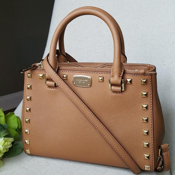 235287740058 Michael Kors Bags | Xs Studded Kellen Satchel Bag Acorn | Poshmark